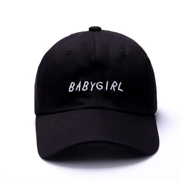 VORON new 100% Cotton Baseball Cap BABYGIRL Embroidery baseball cap Fashion Hats For Men & Women Dad Hat Black-lilogal