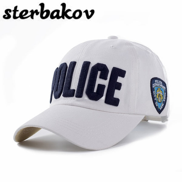 100% cotton Adults and children Police Baseball Cap Men Tactical Cap Mens Baseball Caps Brand Snapback Trucker Hat For Man Women-lilogal