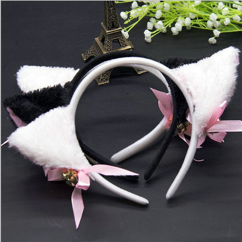 Women Hair Headband Hair Accessories Party Costume Sweet Cat Ears Halloween Headband Fashion Girl Cute Cat Fox Ear Headbands-lilogal