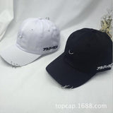 2017 New Creative Piercing Ring Baseball Cap Punk Gorras Bone Masculino Feminino Basebol HipHop Base Fashion Ball Caps Unisex-lilogal