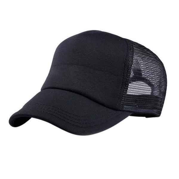 Adjustable Child Solid Casual Patchwork Hats for New Classic Trucker Summer Kids Mesh Cap Sun Hats-lilogal