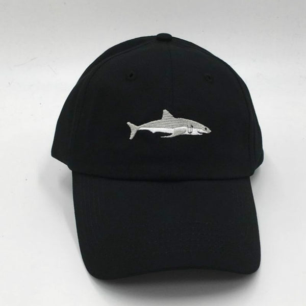 which in shower stitched shark snapback man cap baseball cap hip hop embroidery curved strapback dad hat summer fish sun hat cap-lilogal