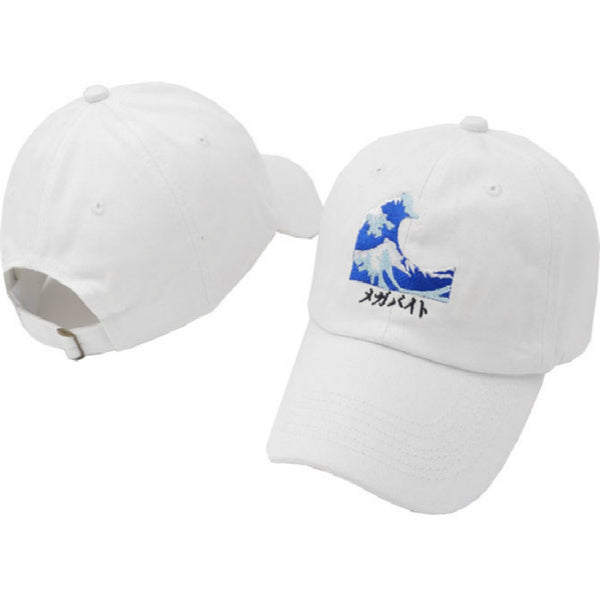 Which in shower Embroidery Wave Dad Hat Japanese Baseball Cap For Women Men Casual Curved Breathable Snapback Sun Hats Bone-lilogal