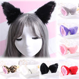 Sale Women Girls Fashion Fox Plush cat ears Headclips lovely hair Accessories Gift-lilogal