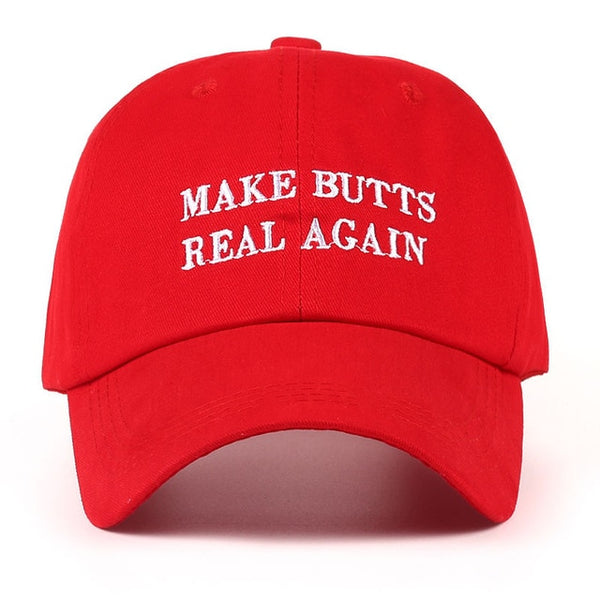 VORON new MAKE BUTTS REAL AGAIN dad hat men women Cotton baseball cap UNSTRUCTURED NEW - RED-lilogal