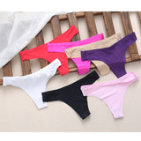 Women Seamless Invisible Underwear Soft Thongs Briefs Lingerie G-string Panties THINKTHEDO-lilogal