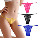 4 Pieces/Lot Sexy Lace Women Panties Lady's Underwear Sheer Lace G String Thongs Women Underwear Hot Sale-lilogal
