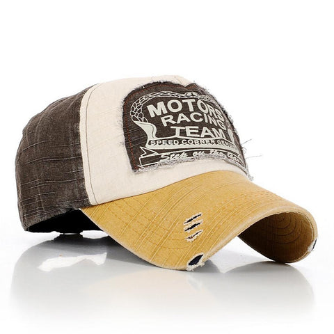 The latest style exquisite fashion accessories Motors Racing Team Cotton snapback hats caps hip hop-lilogal