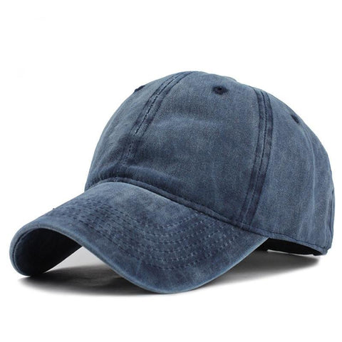[FLB] High quality Washed Cotton Adjustable Solid color Baseball Cap Unisex couple cap Fashion Leisure dad Hat Snapback cap-lilogal