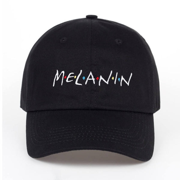 2017 new arrival MELANIN letter embroidery baseball cap women snapback hat adjustable men fashion Dad hats wholesale-lilogal