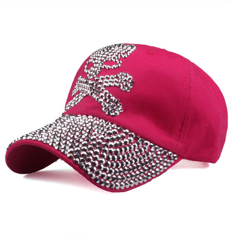 [YARBUU] baseball caps for women and men Casual Rhinestones Skull cap new fashion high quality Unisex hat Female Peaked cap-lilogal