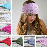 Girl Hair Accessories Fashion Solid Color Hair Elastic Stretchy Wide Head Band Lace Head Turban Bandanas For Women #EW-lilogal