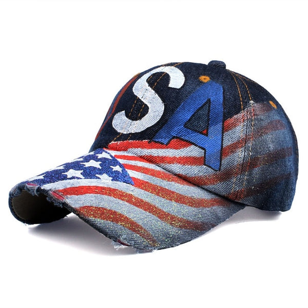 [YARBUU]baseball caps 2017 new style painting baseball cap with letter USA solid colour cap Adjustable Casual Snapback hat cap-lilogal