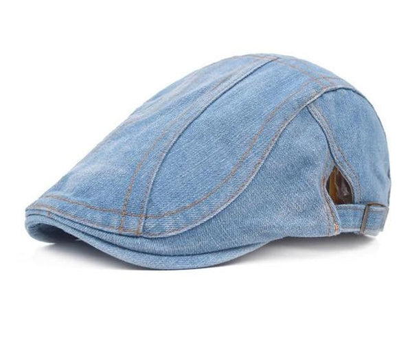 Newest Fashion Men and Women Splicing Jean Advance Hats Denim Cloth Casual Peaked Caps for femme Autumn Winter Beret Adjustable-lilogal