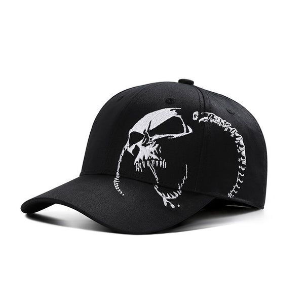 High Quality Unisex 100% Cotton Outdoor Baseball Cap Skull Embroidery Snapback Fashion Sports Hats For Men & Women Cap-lilogal