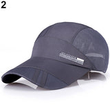 Fashion Men's Summer Running Sport Baseball Visor Hat Mesh Peaked Cap-lilogal