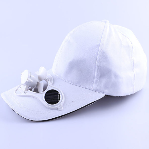 2018 New Hot Men Women Solar Power Sun Baseball Hats With Cooling Fan Summer Boys Girls Funny Caps Camping Traveling-lilogal