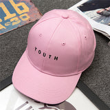Xuyijun 2018 Unisex Embroidery Youth Letter Baseball Cap Man and woman Snapback Hip Hop Flat Hat Black White Hot Pink dad cap-lilogal