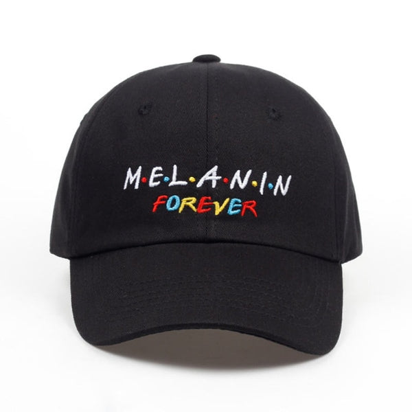 2018 new arrival MELANIN forever letter embroidery baseball cap women snapback hat adjustable men fashion Dad hats wholesale-lilogal
