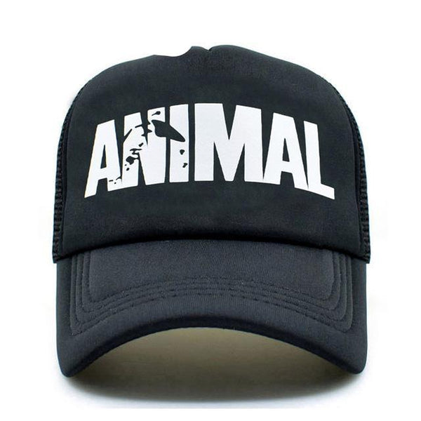 CLIMATE Men Animal GYM Mesh Trucker Caps Animal Print Fitness Fans Black Mesh Cap Body building Muscle Sports Caps Hat For Men-lilogal