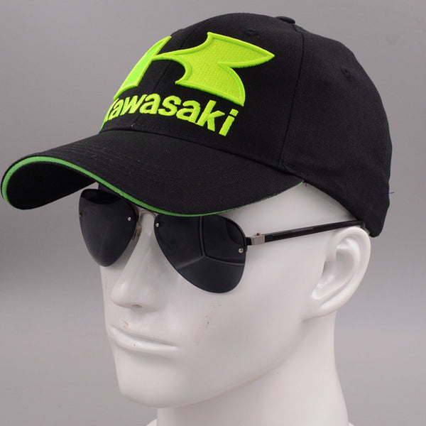 2018 caps Cool Blue green Motorcycle Racing embroideried kawasaki cap Hat MOTOGP baseball cap dad hat bone Casquette-lilogal