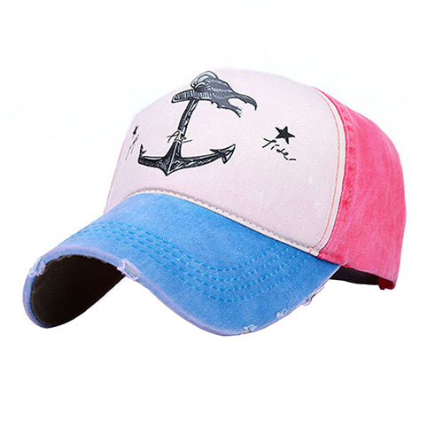 2017 Man Woman Couples Baseball Caps Cotton Blend Do Old Pirate Ship Anchor Sun Hat-lilogal