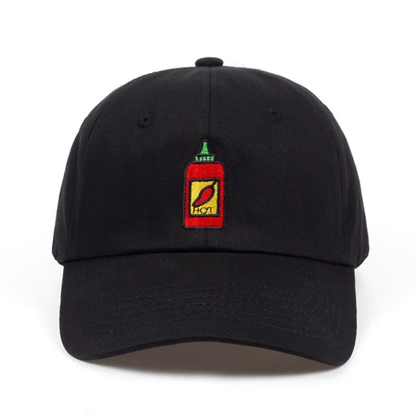 2018 Hot Sauce Bottle Dad Hat Embroidered Curved Adjustable Baseball Cap men women brand snapback Hip-hop Summer cap hats-lilogal