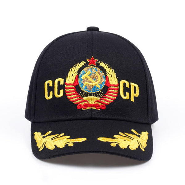 new CCCP USSR national emblem Hot Sale Style Baseball Cap Unisex black Red cotton polo snapback Cap with embroidery high quality-lilogal