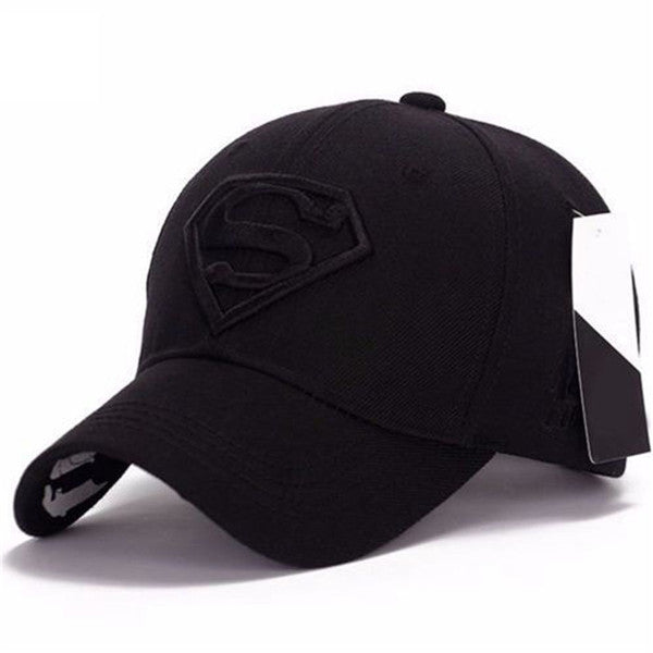 8 Colors Embroidery Men Women Unisex Hiphop Hat Snapback Adjustable Fit Baseball Cap Superman Hip-hop Stretch Hat-lilogal