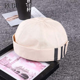 New hip-hop eaves curling Gupai men and women outdoor personality street dance landlord hat tide section No brim-lilogal