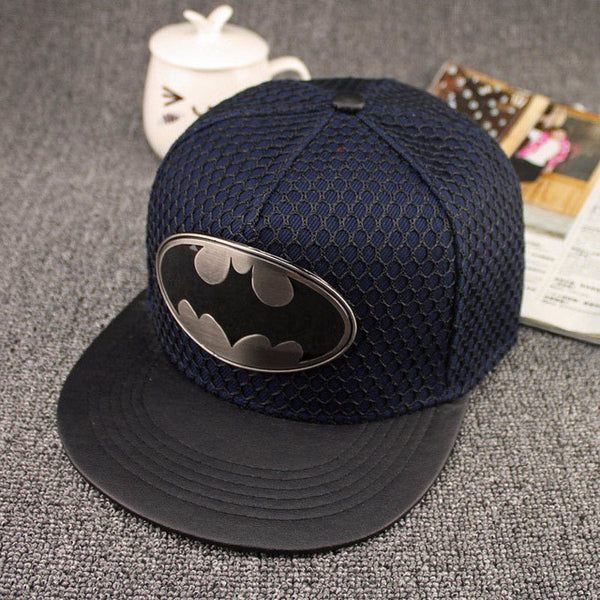 2018 metal Batman Snapback caps Hip Hop Cap man Hat Fashion Casual Batman Baseball Cap Hats For Men Women cosplay casquettes-lilogal