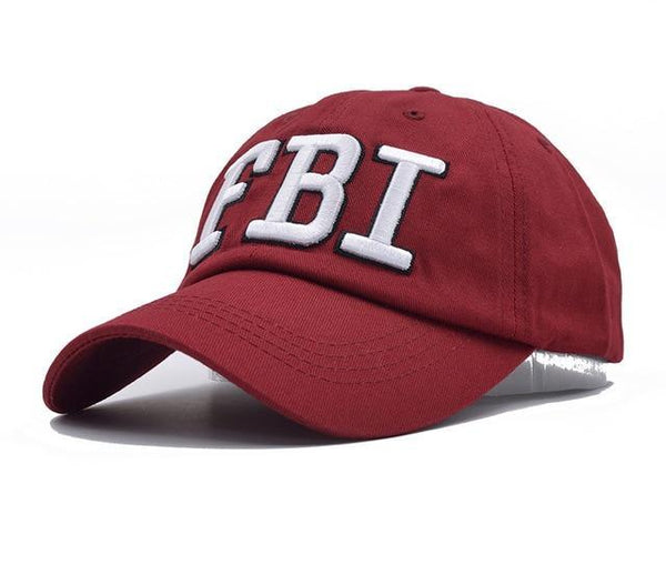 2018 FBI Caps Outdoor 5 Panel Baseball Cap Brand Snapback Hat Bone FBI Snapback For Men High Quality Tactical Cap Size 56-59cm-lilogal