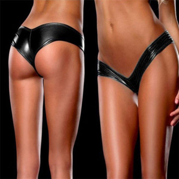 Panties for women Solid Sexy Lingerie Women Sexy Metallic G-String Thongs Brief Knicker Tangas Low Waist Underwear 10 Colors-lilogal