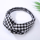 New Top Knot Turban Headband Floral Elastic Hairband Head Hoop Striped Hair Accessories for Women Girl Twisted Knotted Head Wrap-lilogal