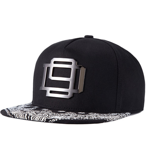 SNP 5panel black Snapback baseball Caps male bone flat hat men women hip hop cap ajustable One Size 56-60cm-lilogal