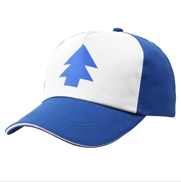 2018 Hot Spring Summer Gravity Falls U.S Cartoon Mabel Dipper Pines Cosplay Cool boy Baseball Mesh Caps Adjustable Sport Hat-lilogal