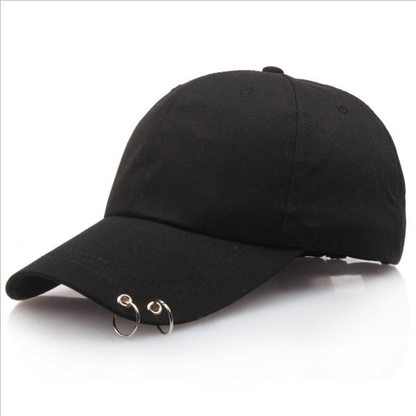 Hot selling 2017 BTS LIVE THE WINGS TOUR Fashion K POP Iron Ring Hats Adjustable Baseball cap 100% Handmade Ring free shipping-lilogal