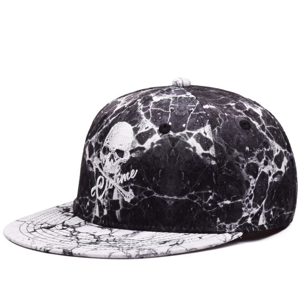 High Quality Skull Embroidery Baseball Caps Hip Hop Snapbacks Flat Brim Bones Gorra Sports Snapback Caps For Men Women Caps-lilogal