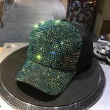 2018 Rhinestones luxury pearl Sequins Baseball Cap For Women Summer Cotton Hat Girls Snapback Hip hop hat Gorras Casquette Bones-lilogal