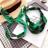 Korea Colorful Cloth Headbands For Girls Bunny Hairbands For Women Forest Hair Bows Hair Accessories -4-lilogal
