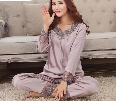 Rayon Pajamas for Women Nightwear Pajamas Set Lounge Pijama Femenina Pajamas Sleepwear-lilogal