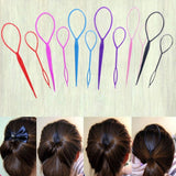 2Pcs HOT Fashion Women Ladies Girls Black Topsy Tail Hair Braid Ponytail Maker Styling Tool Hair Accessory-lilogal