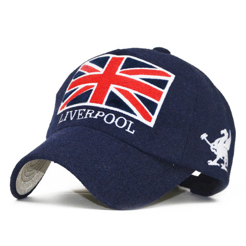New Fashion Liverpool Warm Snapback Hat Unisex Gorras Baseball Cap Snap Backs With England Flag For Autumn Winter casquette polo-lilogal