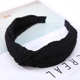 Women Hairbands 2018 New Fashion Twisted Knotted Headbands Hair Accessories for Women Girl Solid No Slip Wide Hair Band Headwear-lilogal