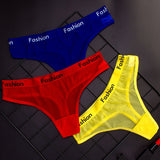 SP&CITY Sporty Style Sexy Transparent Underwear Women Crotch Cotton Briefs Soft Hollow Out Panties String Thong Sex Lingerie-lilogal