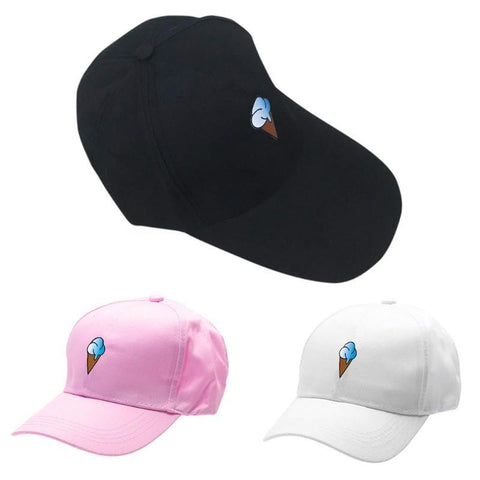 8988e879c67 KLV Unisex Mens Womens Ice Cream Baseball Cap Adjustable Snapback Trucker  Sun Hats