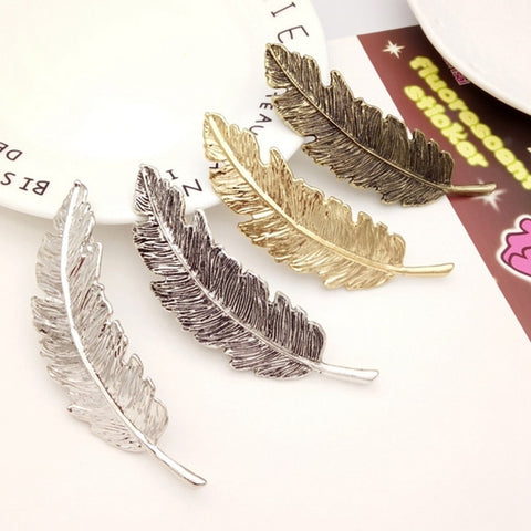 % Women Headwear Barrettes Female Headbands Leaves Hairpins Feather Shape Wedding Hair Accessories for Girls Hairpin kids gift-lilogal
