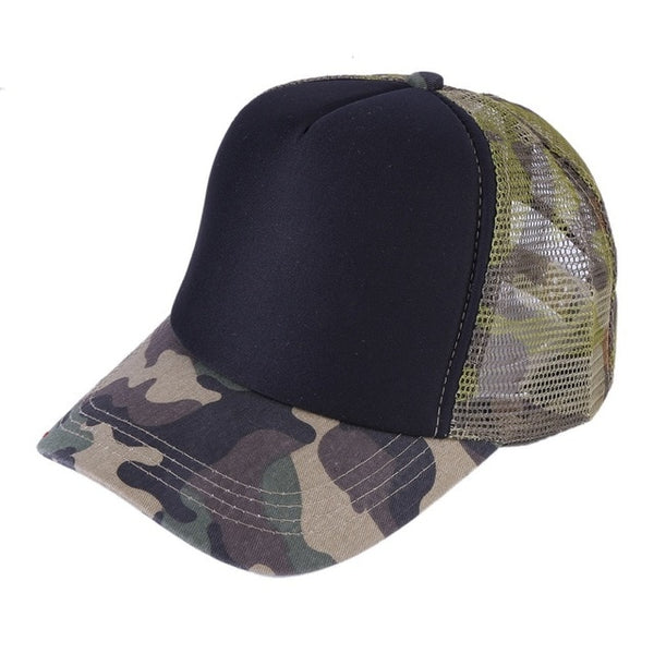 2018 Snow Camo Baseball Cap Women Men Mesh Tactical Cap Camouflage Snapback Hat For Men High Quality Letter Printing Hat Trucker-lilogal