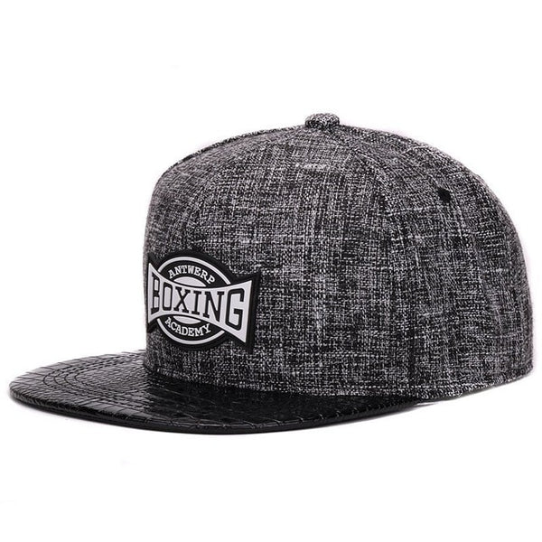 HATLANDERQuality linen cotton mens snapback cap rubber patch hiphop pu crocodile skin flat baseball cap for boys and girls-lilogal