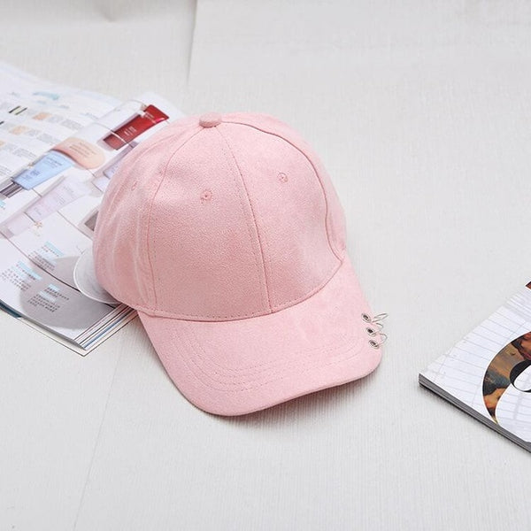 2018 Unisex Casual Solid Adjustable Baseball Caps Snapback hats for men baseball cap women men white baseball cap hat with Rings-lilogal